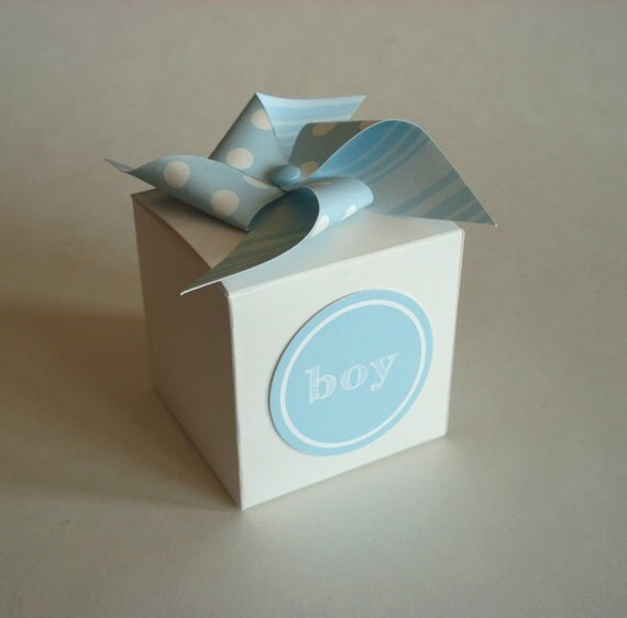 Blue Lightning Favor Boxes : Items similar to baby shower favor box with pinwheel