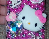 samsung galaxy s3 case blinged Hello kitty pink
