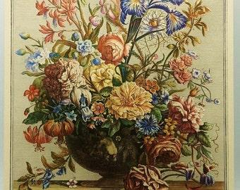 Vintage June Birthday Flowers, Summer Home Decor, Botanical Flower Print (Wedding, Anniversary Illustration to Frame)