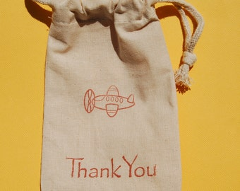Airplane Party Favor Bags / Set of 10 / Just Plane Fun Party Favors