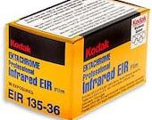 Kodak Aerochrome III, EIR Color Infrared film, 35mm, Lomography