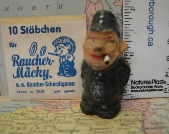 Vintage Wartime Novelty Smoking Man Figurine