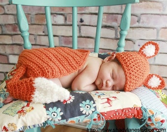 PATTERN Fox Photo Prop - Crochet Hat & Cape