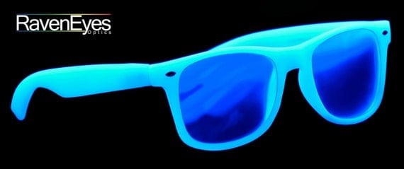 Rave Glasses White Glow - Raveneyes Optics Diffraction Grating Glasses (rainbow/prism/firework) VIDEO