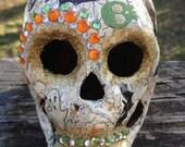 Papier-Mache Skull Decoration