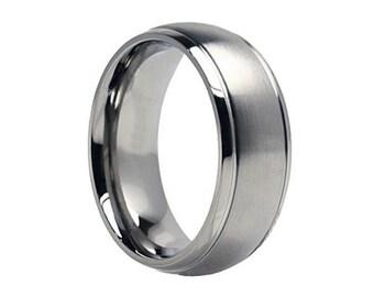 Titanium Wedding Band, Men Titanium Rings, Mens Wedding Band, Titanium Wedding , Titanium Engagement Ring, Wedding Bands, Titanium Women
