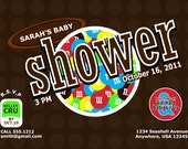 M & M Baby Shower Invitation, 8.5 x 5.5, DIY Printing