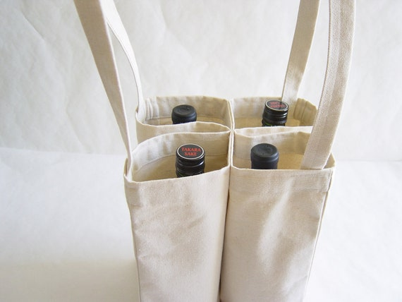 Four Bottle Wine Tote