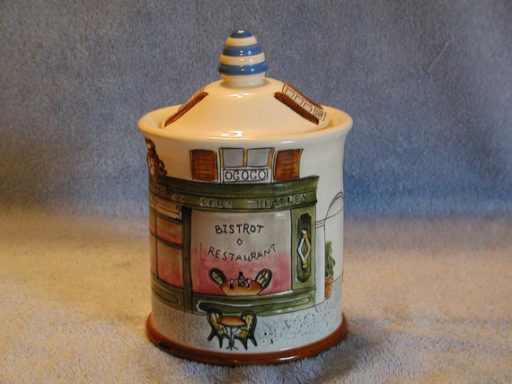 RESERVED for Ruth  - French Bistro Cookie Jar