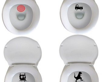 Potty Training - Target Aim Decals - Fun Potty Training at LAST - set of 3