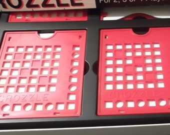 1981 Crozzel Crossword Game Replacement Parts