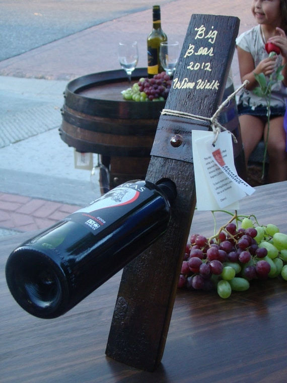 Balancing Wine Bottle Display