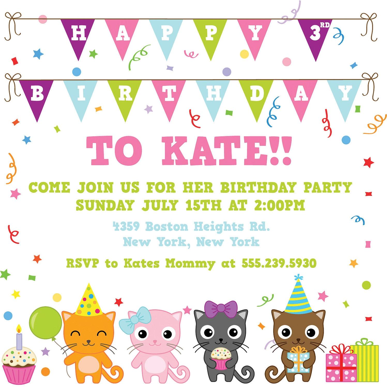 kitten party invitations - Jcmanagement.co
