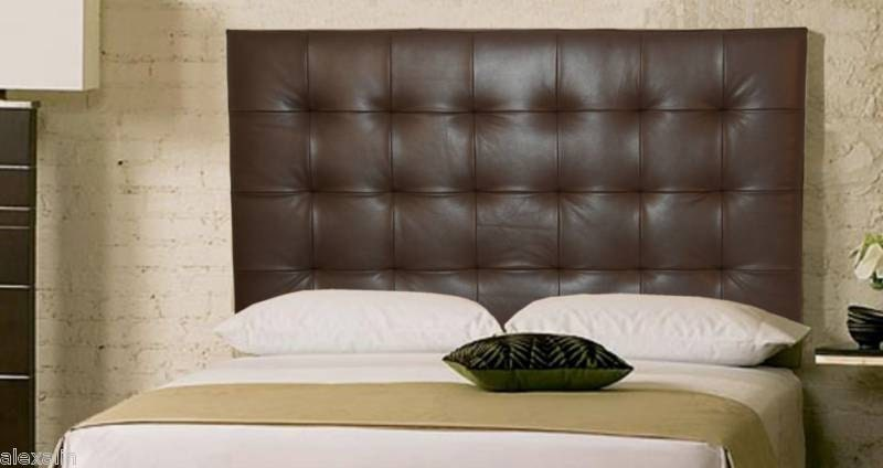 Wall mounted queen size extra tall headboard upholstered in for Different headboards