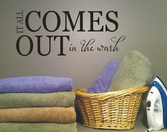 Laundry Wall Decal - Vinyl Lettering -  Home Decor - Laundry Room Vinyl Wall Decal