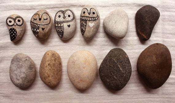 Custom Order - Handpainted Owl Rocks