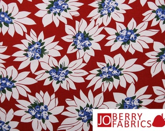 Red, White and Blue Floral