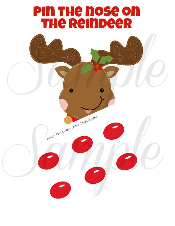Pin the nose on the reindeer template new calendar for Reindeer tail template