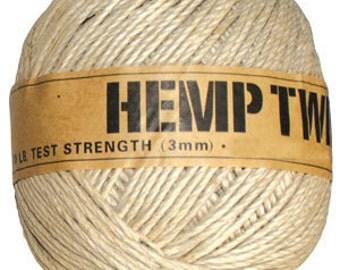 wholesale hemp twine cord 125ft 3mm