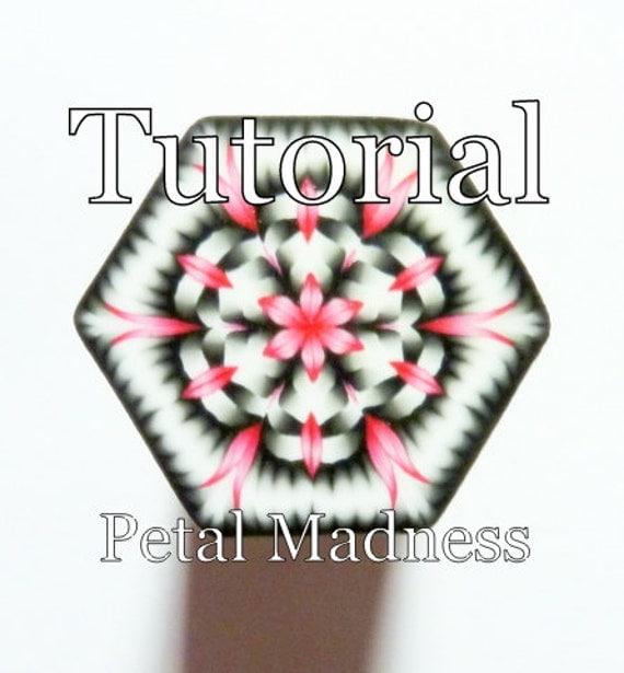 Polymer Clay Cane Tutorial - TUTORIAL - The Petal Madness Cane