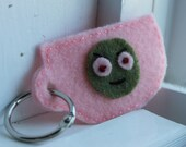 Zombie Tea Cup Keychain (Pink)