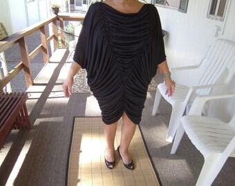 1970s Nuance lable black evening dress