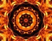 Mandala Art Print Trial by Fire 8x8