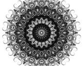 Mandala Art Print Hallowed Sequitur 8x8
