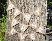 Wedding Sign - Best Day Ever - Burlap Bunting Sign