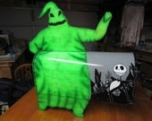 The Nightmare Before Christmas- Halloween or Christmas themed Mailbox Decoration. Oogie boogie, jack skellington