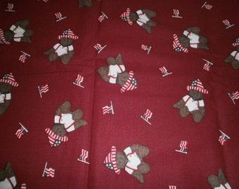 Patriotic bear print fabric