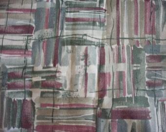 Pastel paint strokes print fabric
