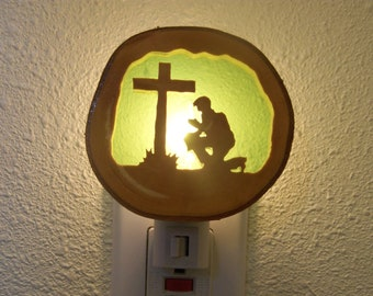 Praying cowboy nightlight
