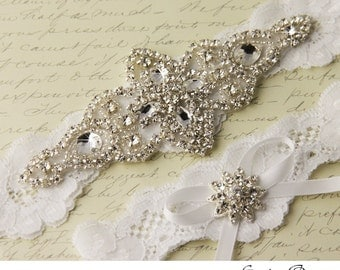 Lace Wedding Garter, Bridal Garter, White Garter set, Ivory Lace Garter, Wedding Garter Set, Bridal Garter Set