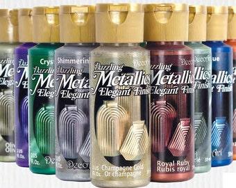 Clearance, 3 * Decoart Americana Dazzling Metallics Acrylic Paint-choose your colour