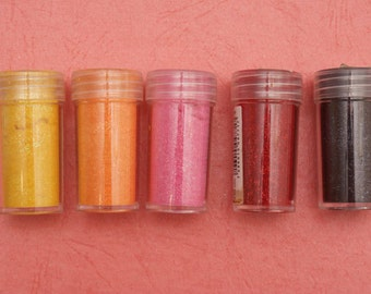 3 Thick Glitter Powder bottles , Velvet effect - choose your color