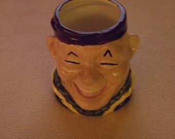 Happy Man Head Vase