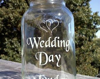 Wedding Day Fund 32 ounce Jar, Piggy Bank