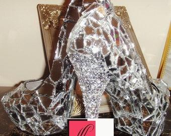 Custom Shoes Mirror heels Glass shoes Celebrity Status