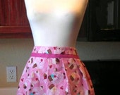 CLEARANCE Women's Pink Cupcake Apron