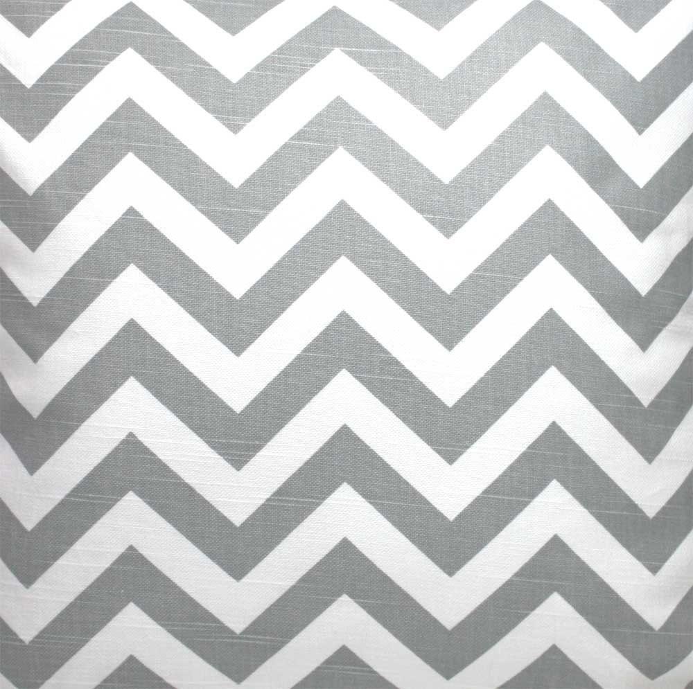 Chevron print fabric by the yard - Ash Gray Grey And White Chevron Zigzag Slub Fabric One Yard Premier Print Fabric