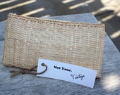 Straw Cosmetic bag/Clutch