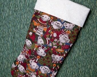 Teddy Bear Christmas stocking