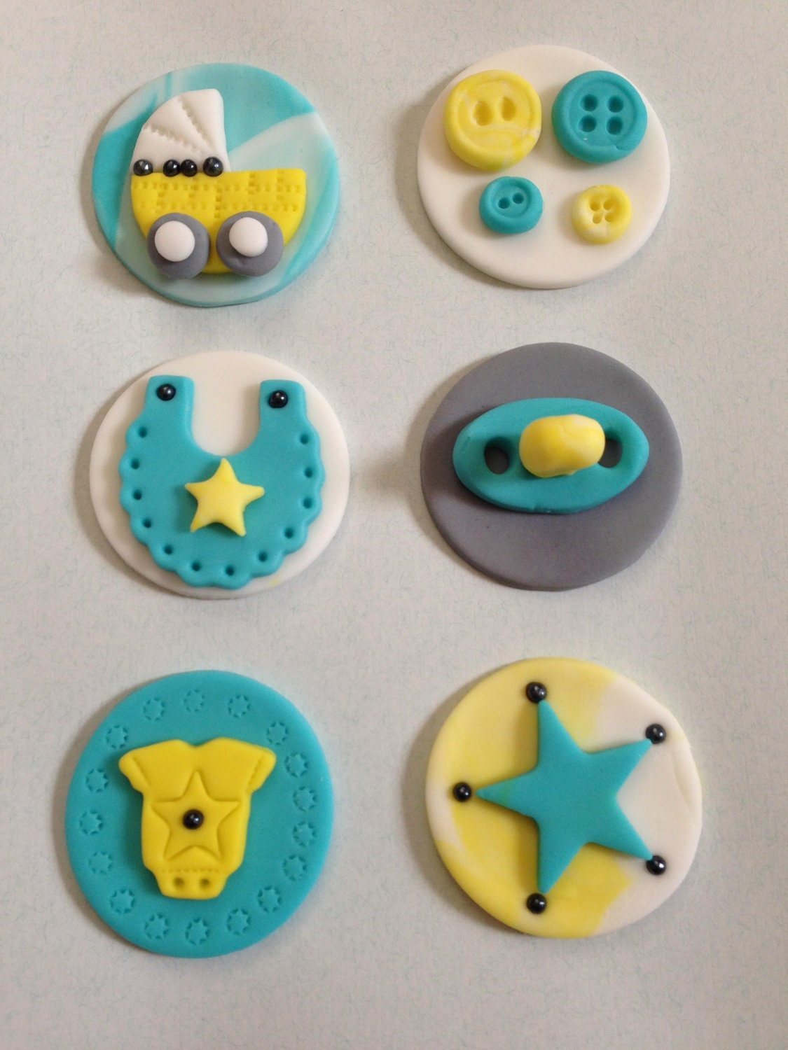 fondant topper baby shower cupcake or cookie toppers