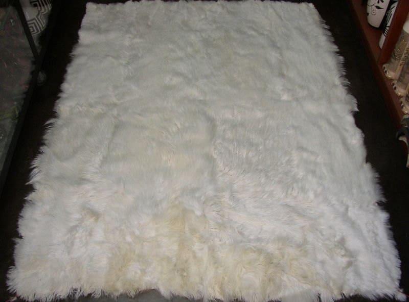 100 Peruvian Baby Alpaca Fur Rug White 78 7 X By