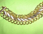Heavy Metal Gold Tone Bracelet (Unisex) - Give to him or her for Christmas
