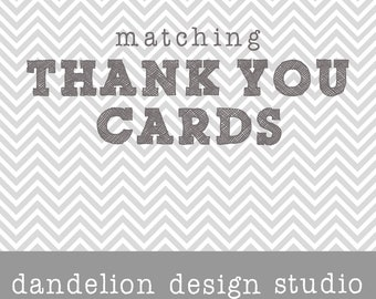 PRINTABLE Thank You Cards - Made To Match Any Collection - Dandelion Design Studio