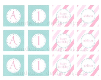 PRINTABLE Party Tags - Owl Party Collection - Dandelion Design Studio