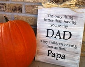 Dad- Papa/Grandpa Painted Canvas Father/Grandfather Sign