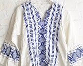 Cotton Tribal Tunic, Embroidered